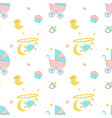 bashower seamless pattern with newborn vector image vector image
