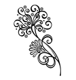 Beautiful Decorative Flower with Leaves vector image vector image
