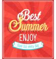 best summer enjoy typographic design vector image vector image
