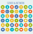 big computer networks icon set vector image vector image