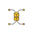 block chain cryptocurrency yellow modern vector image vector image