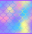 Blue pink fish scale pattern with colorful mesh