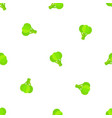 broccoli decorative seamless vegetable pattern vector image vector image