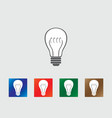 Bulb icons vector image vector image