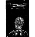 Business Skull vector image vector image