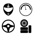 car race icon set vector image