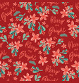 christmas merry and bright seamless pattern vector image