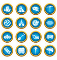 coal mine icons set simple style vector image vector image