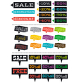 Color labels with sale offer vector image
