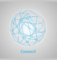 connect world abstract concept art vector image vector image