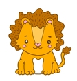 cute cartoon baby lion vector image