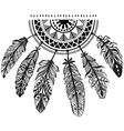 Decoration dreamcatcher in tribe style vector image vector image