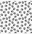 dog paw print seamless pattern vector image