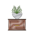 drawer icon image vector image vector image