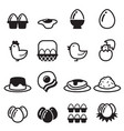 egg icons set vector image vector image