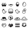 egg icons set vector image