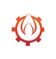 engineering spark fire flames element emblem vector image vector image