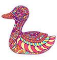 Fantasy ornament duck pastel colo
