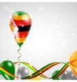 Flag of Zimbabwe on balloon vector image vector image