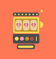 flat icon on background slot machine vector image vector image
