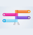 flow chart infographics four step information vector image