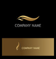 gold leaf beauty logo vector image vector image