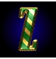 golden and green letter z vector image vector image