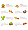 hamburger and fried chicken vector image vector image