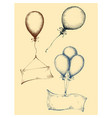 hand drawn balloons collection isolated vector image vector image