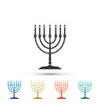 hanukkah menorah icon isolated on white background vector image vector image