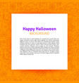 happy halloween paper template vector image vector image