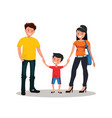happy young family vector image