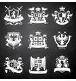 Heraldic chalkboard emblems vector image vector image