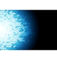 Hi-tech geometric dark blue background vector image vector image