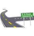 highway sign vector image vector image