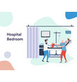 hospital bedroom vector image vector image