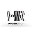 hr h r lines letter design with creative elegant vector image vector image