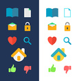 Icons for website vector image vector image