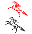 Jumping horses vector image vector image