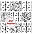 Keys seamless patterns set vector image vector image