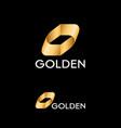 logo gold impossible shape moebius strip vector image vector image