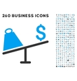 Market Price Swing Icon with Flat Set vector image vector image