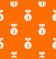 medal pattern orange vector image vector image