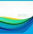 modern colroful waves background design vector image vector image