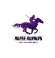 modern running horse logo vector image vector image