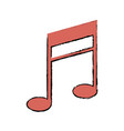 music note armony melody icon vector image