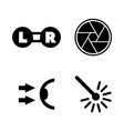 oculist optometry simple related icons vector image