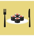 online delivery sushi rolls vector image vector image