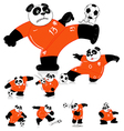 Panda Soccer Holland All Action vector image