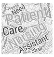 Patient Rights Nursing Assistants Need to be Aware vector image vector image